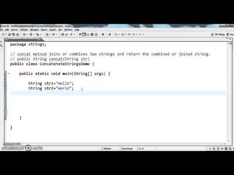 How to concatenate two Strings in java?