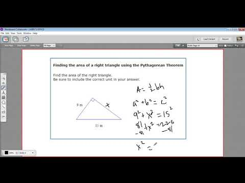 Finding the area of a right triangle using the Pythagorean Theorem