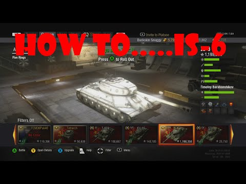 World Of Tanks Xbox 360 IS-6 (How To...)