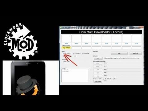 Odin ile Clockworkmod Recovery Kurulumu (CWM recovery) - install with ODİN