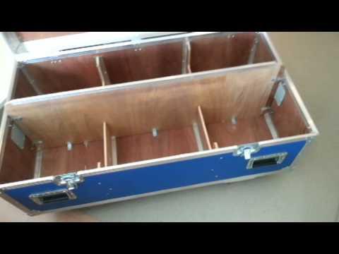 DIY flight case progress video