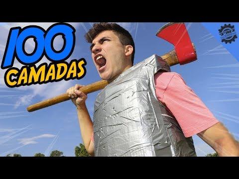FIZ UMA ARMADURA INDESTRUTÍVEL COM 100 CAMADAS DE SILVER TAPE