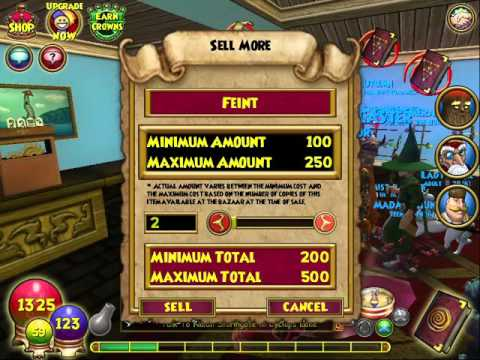 Wizard101 selling over 300 feints treasure cards