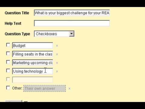 Creating Forms - Surveys in Google Docs