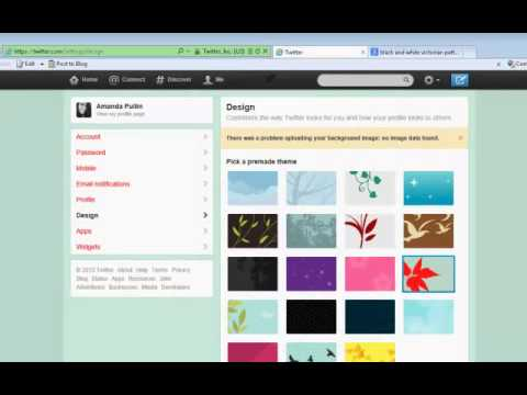 How to Change Your Twitter Background Picture