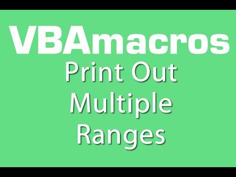 Print Out Multiple Ranges - VBA Macros - Tutorial - MS Excel 2007, 2010, 2013