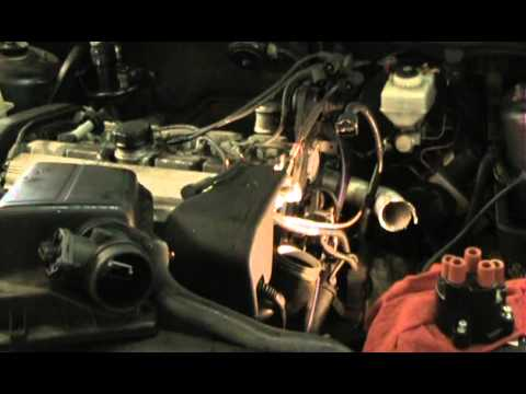 Volvo 850 GLT, changing the distributor cap, rotor, and wire set