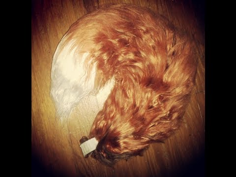 Yarn Tail: Realistic Red Fox Tail