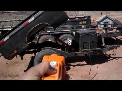 Homemade Dump Trailer | Truck Bed Dump Trailer | GoPro Hero 3 Black