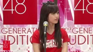 JKT48 2nd generation final audition. Shinta Naomi