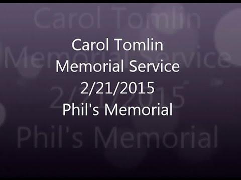 Carol Tomlin Memorial - Phil Speech