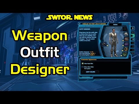 SWTOR News - Weapons In The Outfit Designer