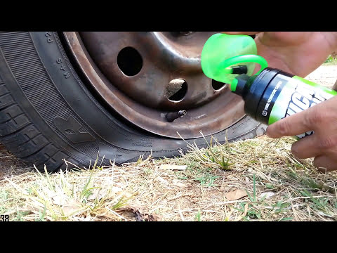 Roadside Flat Tire Fix On The Spot - I use this Inflator Sealer in a can