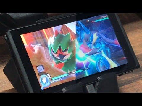 Pokken Tournament DX Tabletop Mode! Decidueye vs Mega Lucario! - E3 2017