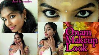 Onam Makeup Look| Kerala Makeup| Kerala Saree| Malayali| South Indian Makeup