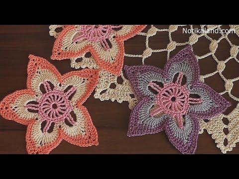 Crochet Flower #8 Tutorial Part 2 irish crochet flowers free patterns
