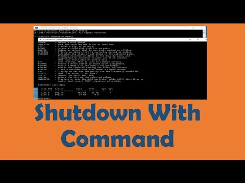 how to shutdown any computer with command