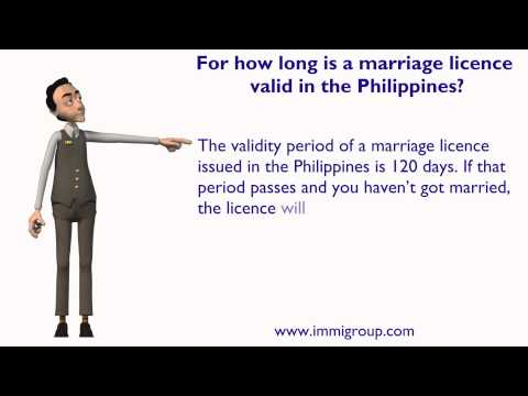 For how long is a marriage licence valid in the Philippines?
