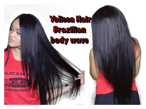 AliExpress | Yolissa Hair: Brazilian Body Wave (Straightened)