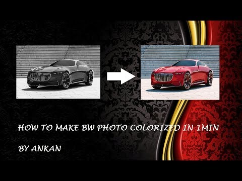 How to colorize BW Photo in 1 minute