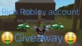 FREE RICH ROBLOX ACCOUNT WITH ROBUX 2018