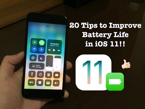 20 Tips to Save Battery Life in iOS 11!!