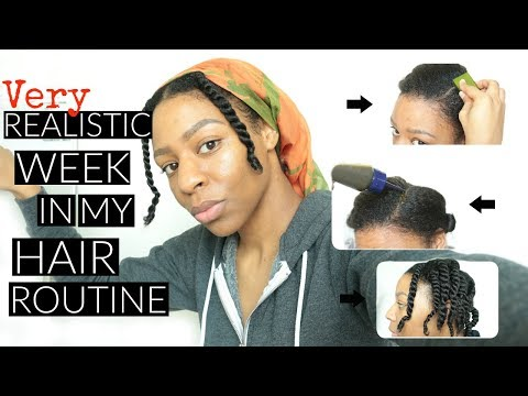 A REALISTIC Week In My Hair Routine for Hair GROWTH #LazyNatural | T'keyah B