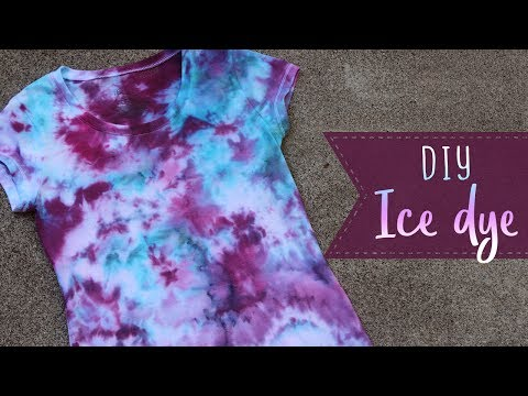 How To Ice Dye | Fabric Dye Techniques | Summer Crafts