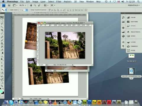 Rotate and Crop image with Photoshop CS4