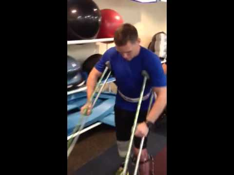 Injured soldier Eric Hunter walks again 7 months after losing his leg from stepping on bomb
