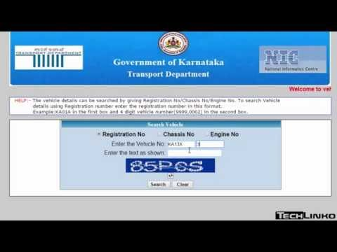 How to Check Vehicle Registration Details in karnataka?