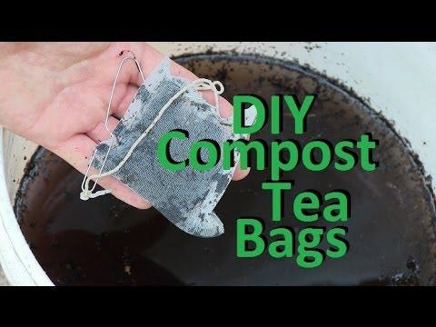 Make Your Own DIY Compost Tea Bags EZ