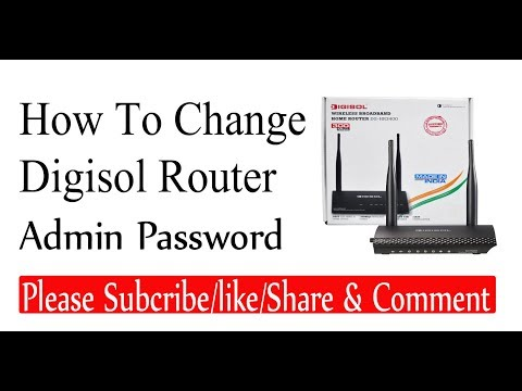 How To Change  Digisol Router Admin  Password In Hindi[By Inchanji Technical]