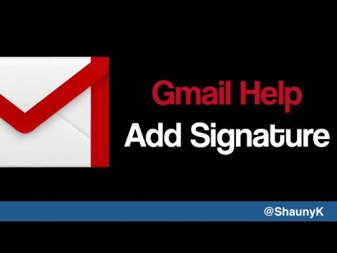 Gmail Help - Adding an email Signature