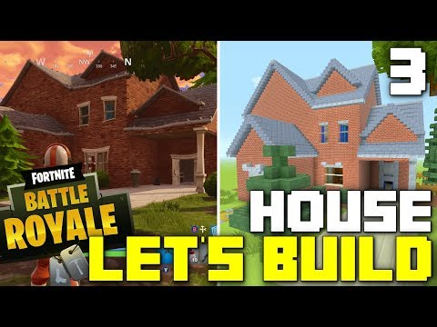 Minecraft: Let's Build a Fortnite House! (Part 3)