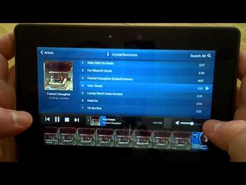 BlackBerry PlayBook Media Controls