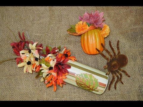 How to DIY Fall Decor --Bottle --Vase -- Pumpkin
