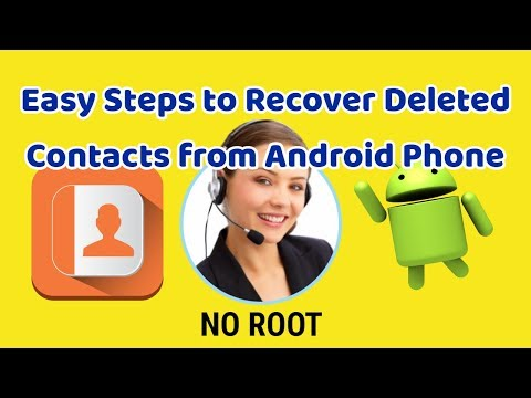 Contact recovery-How to restore deleted contacts on Android - No Root - 2018
