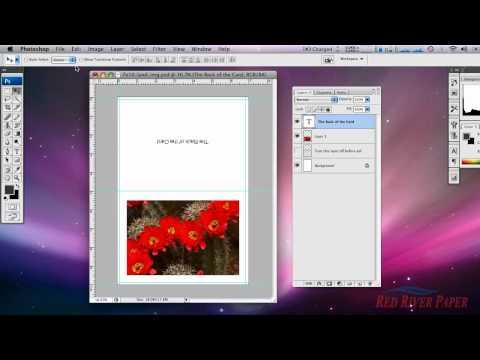 Epson - Inkjet printable cards setup Photoshop on a Mac for Epson (Horizontal Image)