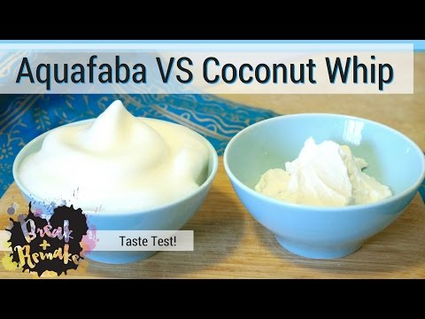 Aquafaba Whip vs Coconut Cream Whip - vegan treats - taste test
