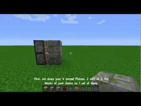 Minecraft - Non sticky piston door.