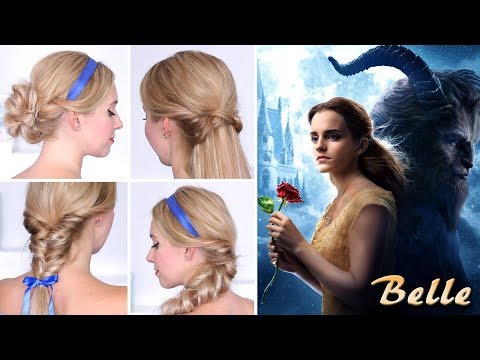 Beauty and The Beast 🌹 Belle's hairstyles for every day 🌹 Hair tutorial
