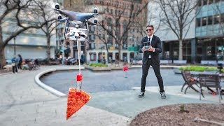 WE MADE A PIZZA DELIVERY DRONE!