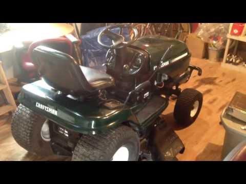 DIY Craigslist Find Mower Repair Craftsman LT1000 Lawn Tractor for $175 Like New
