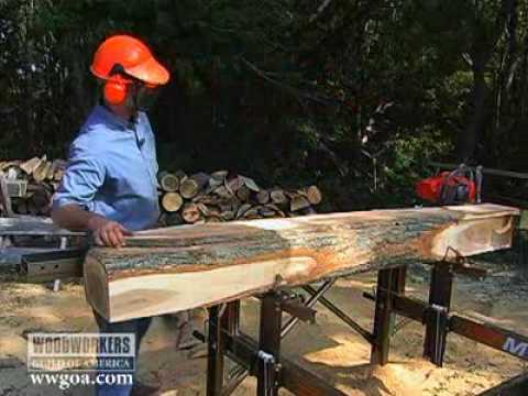 Woodworking DIY Tips - How to Plane Saw Logs into Lumber