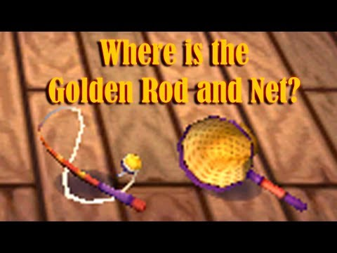Animal Crossing New Leaf: Where is the Golden Rod and Net Located at?