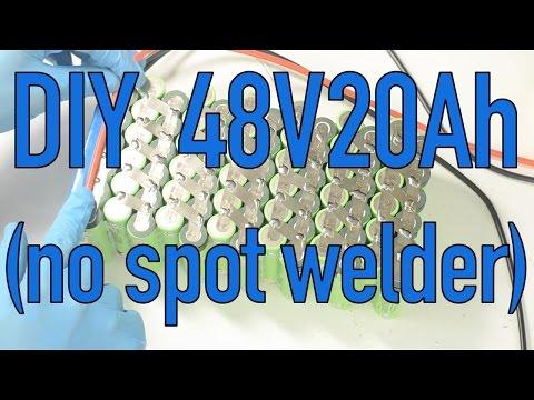 DIY 48V 20Ah lithium battery without a spot welder using Maker Batteries