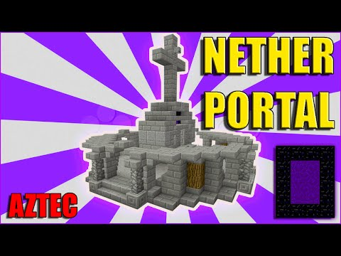 How To Make Custom Minecraft NETHER PORTAL! Aztec Tutorial | PS3 - PS4 - XBOX360 - MCPE - PC