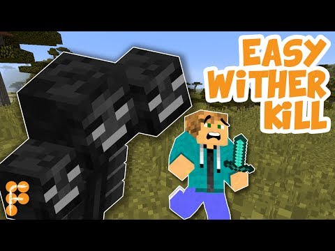 Minecraft: Best way to Kill a Wither. 100% Safe! Under 10 seconds!
