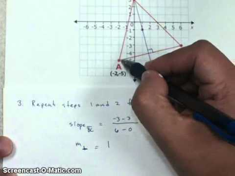How to find an orthocenter in the Coordinate Plane